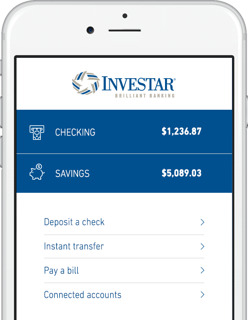 Decorative Photo of iPhone Showing Investar App